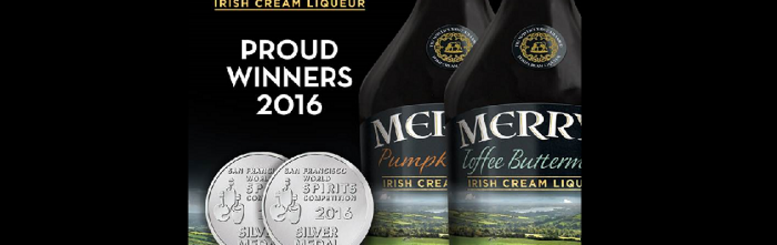 Merrys' Buttermint and Pumpkin Spice Liqueurs receive silver medals at the World Spirits Competition