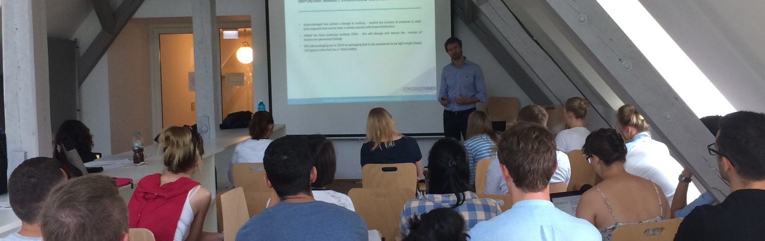 Guest lecturer at Geisenheim Univeristy